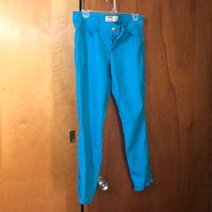 Blue low rise jeans